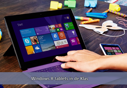 Windows 8 Tablets in de klas